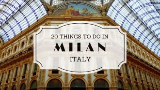 20 Things to do in Milan #BlogVille