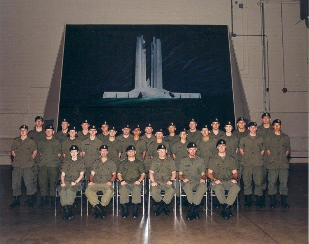 Canadian Army Photo.  I'm third from the left on the top row