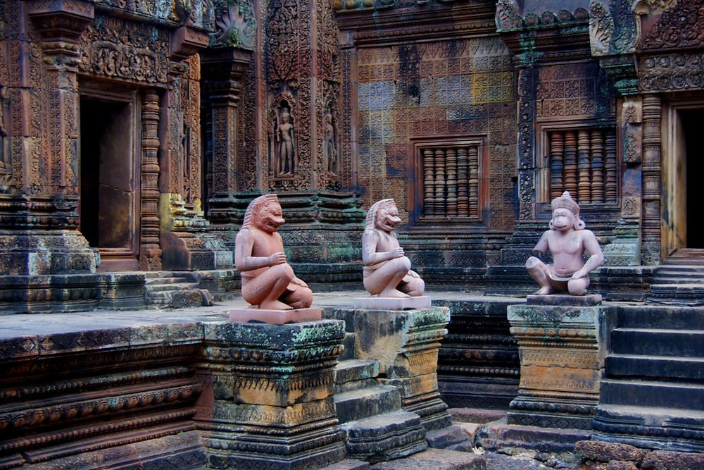 Banteay Srei Temple part of the Temples of Angkor in Cambodia