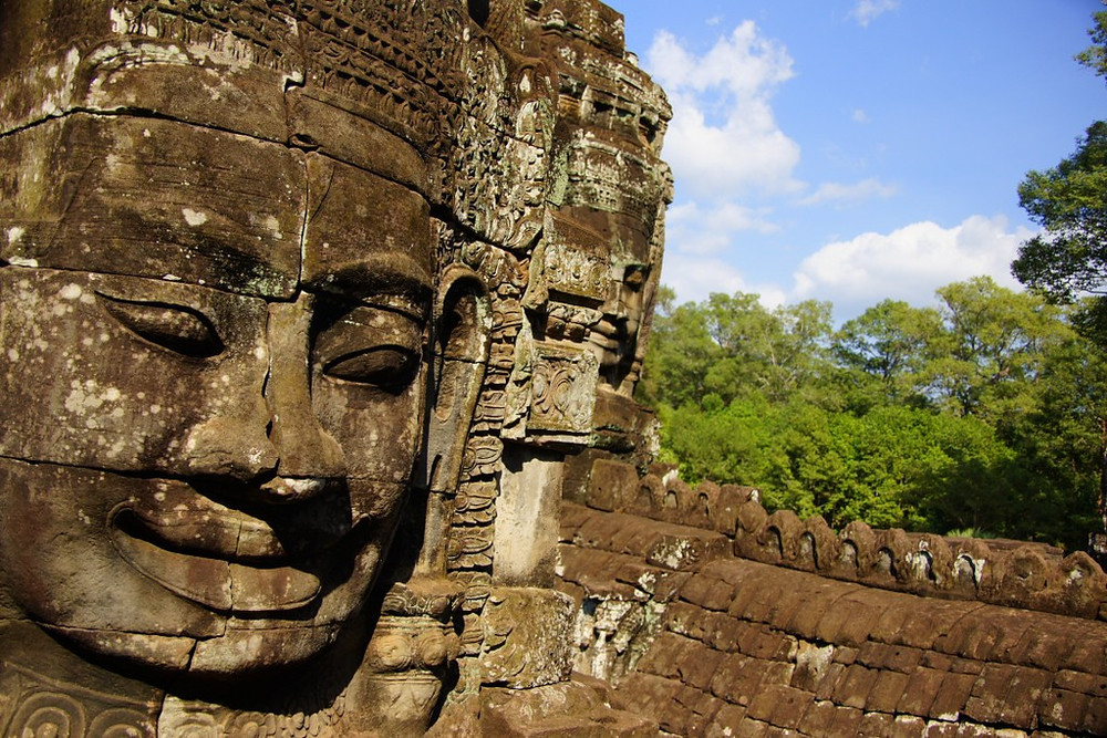 Bayon Temple at Angkor Thom, Cambodia