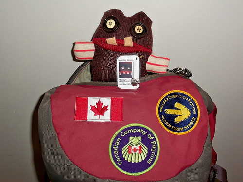 Maple Leaf Canadian Flag on Backpack