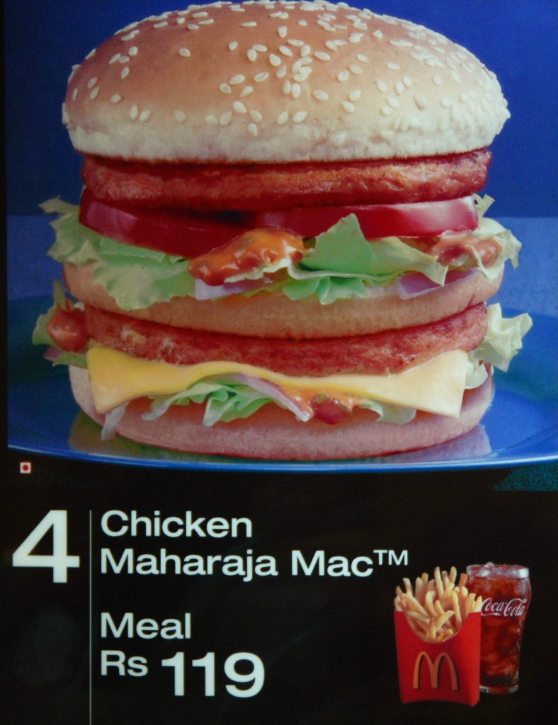 Chicken Maharaja Mac in Delhi, India