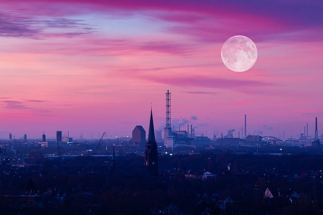 Duisburg Germany at night