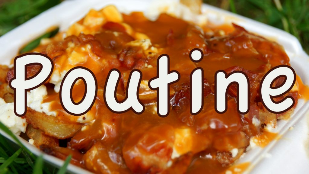 Eating Poutine in Montreal, Quebec, Canada