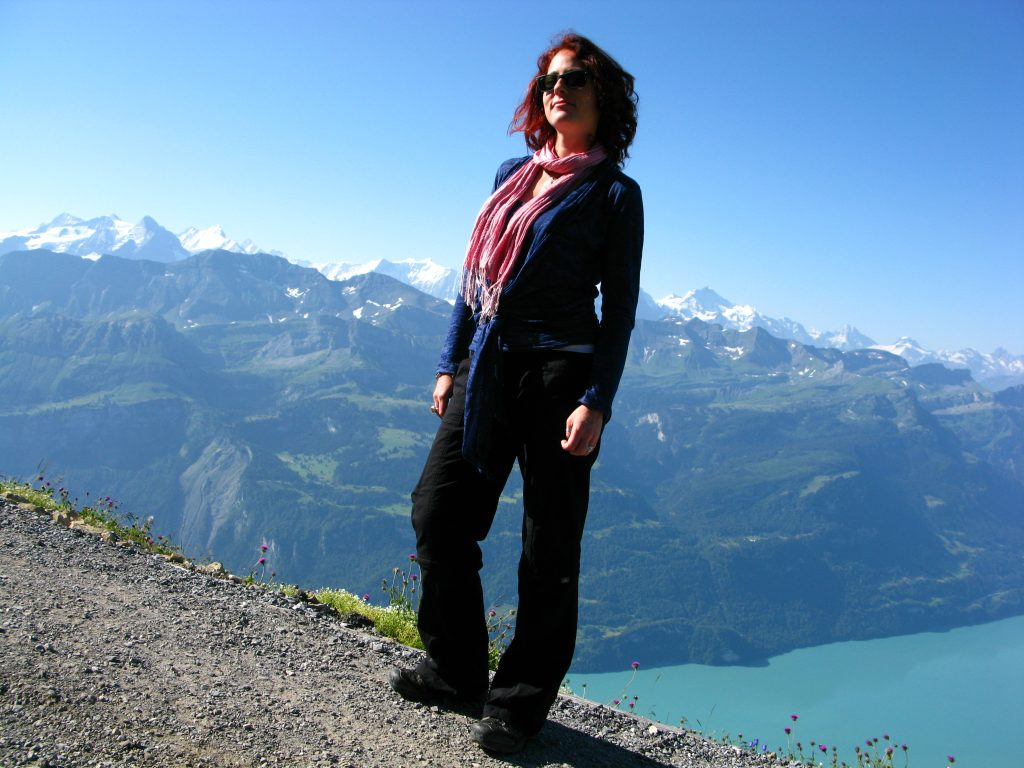 Nora exploring the Alps of Switzerland