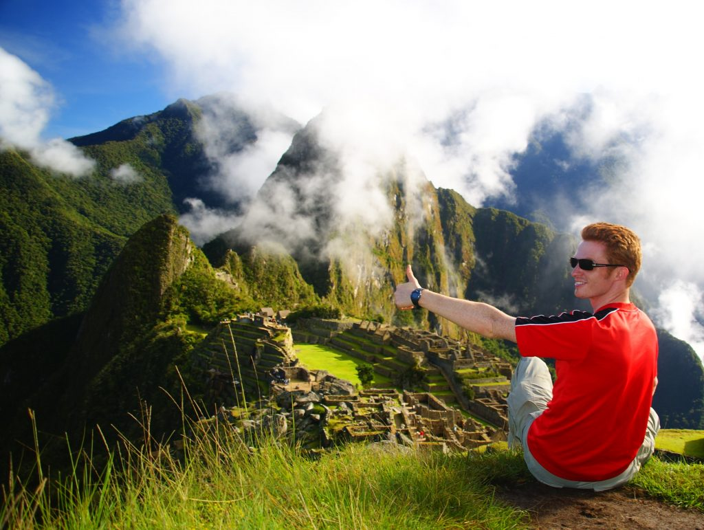 Samuel enjoying backpacking experiences in Peru