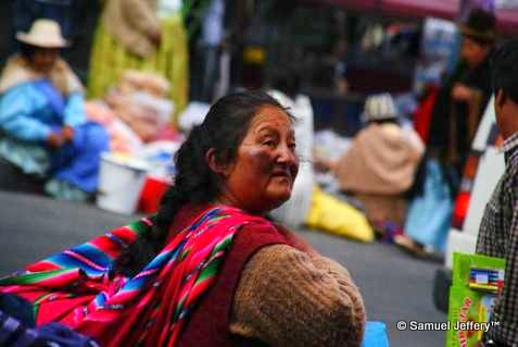 Local Bolivian lady in La Paz, Bolivia