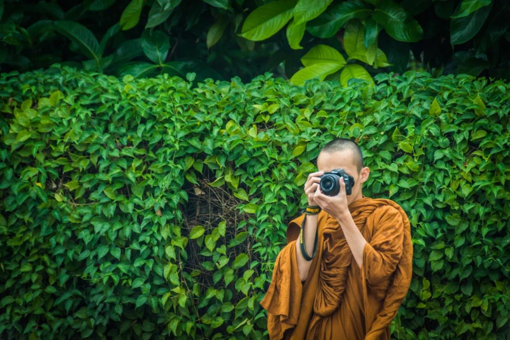 Say Cheese! This is quite a common sight in Chiang Mai, Thailand, nowadays. Buddhist monks carry and buy electronic devices following the same trends as all of us.