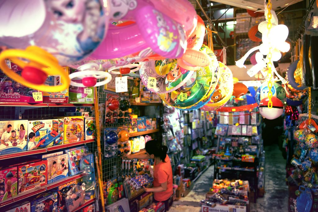 Toy Street in Sham Shui Po