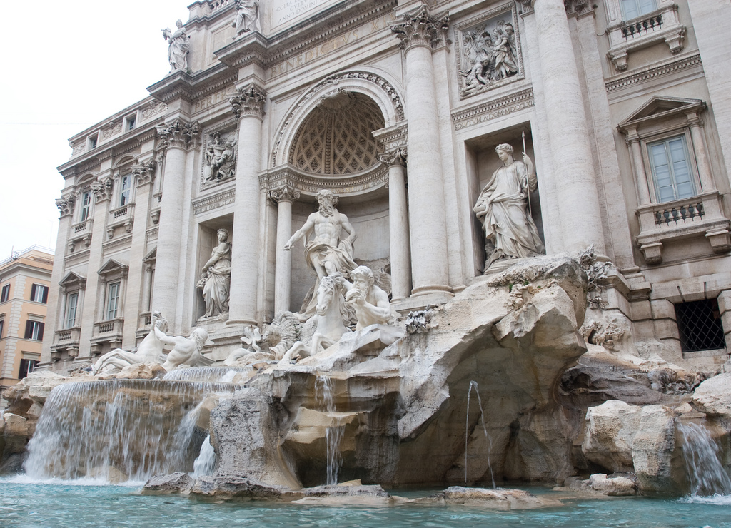 Trevi Fountain located in Rome, Italy