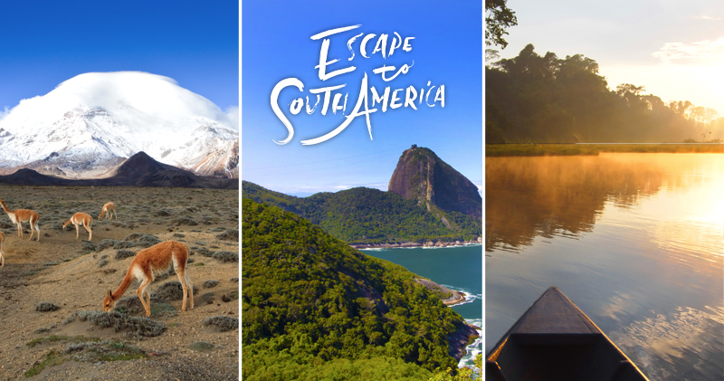 Win 1 of 3 trips to South America!