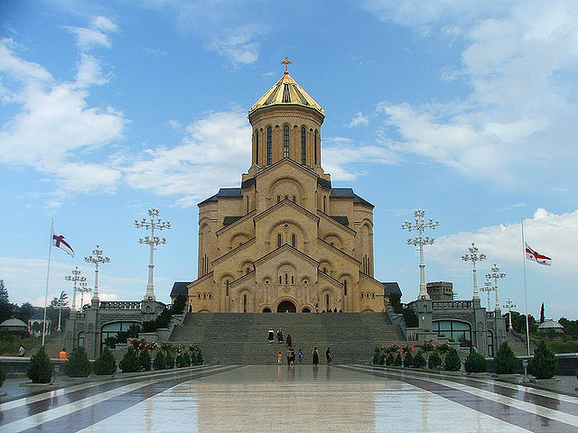 Holy Trinity Cathedral of Tbilisi by CC user m_rubov on Flickr