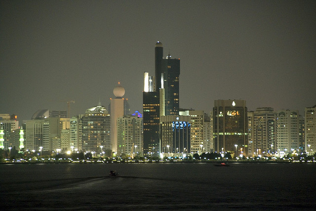 Night view of Abu Dhabi by CC user lucagorlero on Flickr