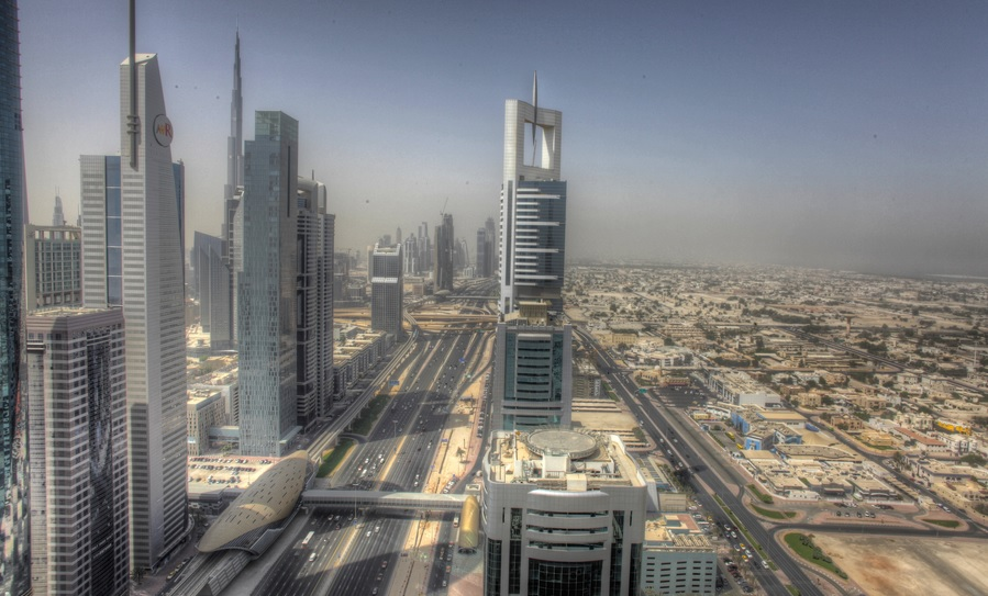Dubai view by CC user 73542590@N00 on Flickr